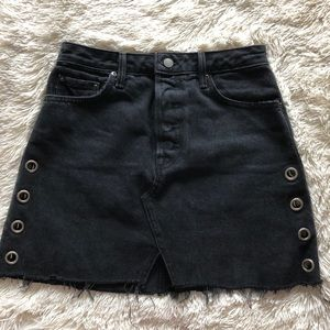 GRLFRND Black denim skirt